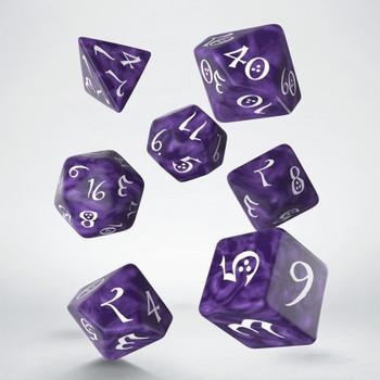 Q Workshop Classic RPG Lavender & White Dice Set 7