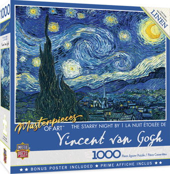 Masterpieces Puzzle Masterpieces of Art Starry Night Puzzle 1,000 pieces