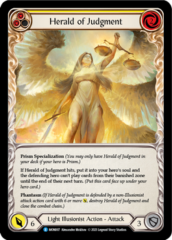FAB04 1st MON-007R Herald of Judgment(yellow) Rainbow Foil