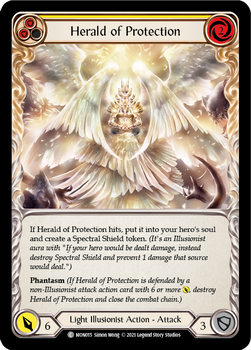 FAB04 1st MON-015C Herald of Protection(yellow) Rainbow Foil