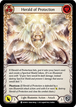 FAB04 1st MON-016C Herald of Protection(blue) Rainbow Foil