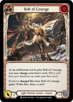 FAB04 1st MON-042C Bolt of Courage(red) Rainbow Foil