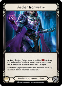 FAB04 1st MON-230C Aether Ironweave Cold Foil