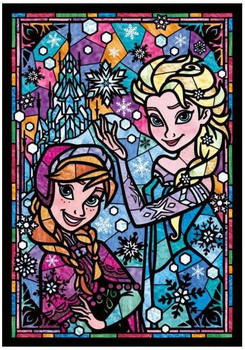 Tenyo Puzzle Disney Frozen Anna & Elsa Stained Glass Puzzle 266 pieces