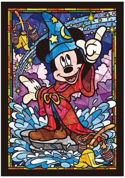 Tenyo Puzzle Disney Mickey Mouse Stained Glass Puzzle 266 pieces