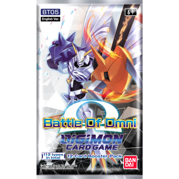 Digimon BT-5 Battle of Omni Sealed Booster Case (12 Booster Boxes) (including Promos)