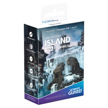 Ultimate Guard Lands Edition 2 Island Standard Sleeves