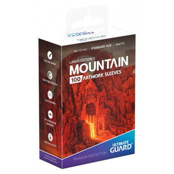 Ultimate Guard Lands Edition 2 Mountain Standard Sleeves
