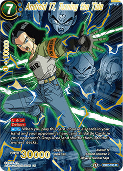 DB2-036R Android 17, Turning the Tide (Foil Alternate Art)