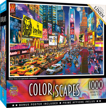 Masterpieces Puzzle Colorscapes New York Times Square Show Time Puzzle 1,000 pieces