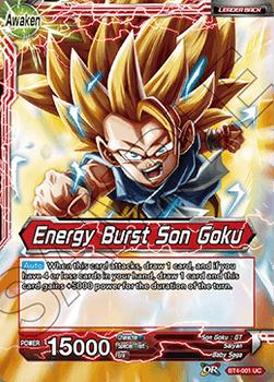 BT04-001UC Energy Burst Son Goku Foil