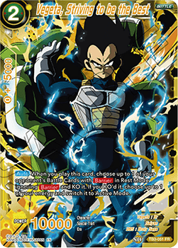 TB3-051FR Vegeta, Striving to be the Best
