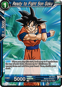 TB1-027C Ready to Fight Son Goku Foil