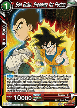 BT06-005C Son Goku, Prepping for Fusion Foil