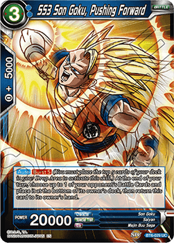 BT06-029U SS3 Son Goku, Pushing Forward Foil