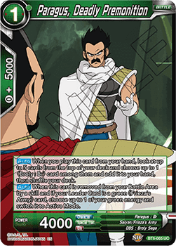 BT06-065U Paragus, Deadly Premonition Foil