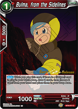 BT6-011C Bulma, from the Sidelines Prerelease Stamp