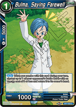 BT07-033C Bulma, Saying Farewell Foil