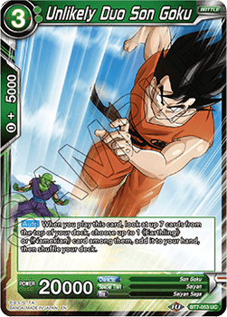 BT07-053UC Unlikely Duo Son Goku Foil