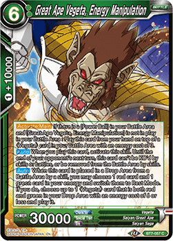BT07-057C Great Ape Vegeta, Energy Manipulation Foil