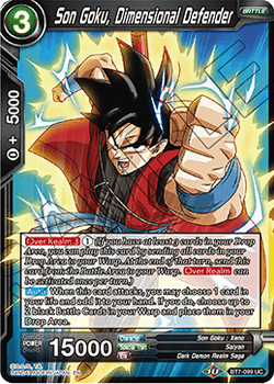 BT07-099UC Son Goku, Dimensional Defender Foil