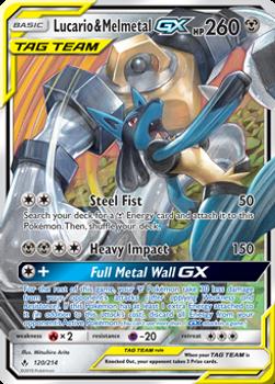 SM10-120/214SR Lucario & Melmetal GX