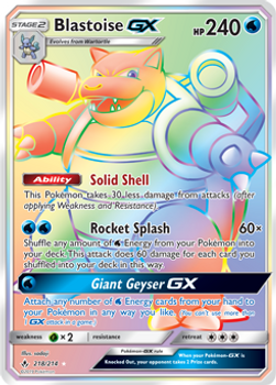 SM10-218/214SCR Blastoise GX (Secret)