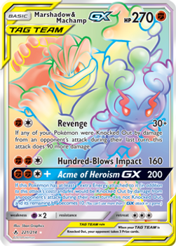 SM10-221/214SCR Marshadow & Machamp GX (Secret)