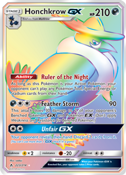SM10-223/214SCR Honchkrow GX (Secret)