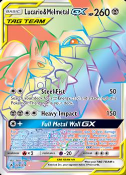 SM10-224/214SCR Lucario & Melmetal GX (Secret)