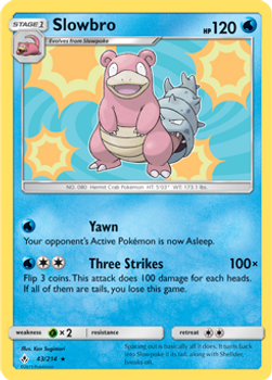 SM10-043/214HR Slowbro Rev Holo