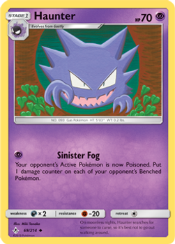 SM10-069/214UC Haunter Rev Holo