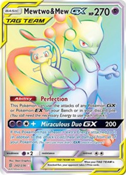 SM11-242/236UR Mewtwo & Mew GX (Secret)