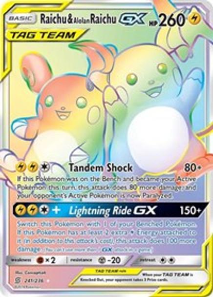 SM11-241/236 Raichu & Alolan Raichu GX (Secret)