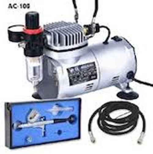 AC-100 Premium Air Compressor with Air Brush