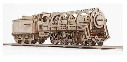 UGears #120235 Locomotive with Tender