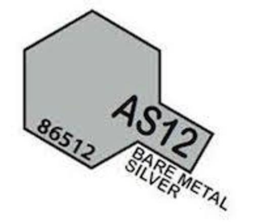 Tamiya Colour Spray Paint #86512 AS-12 Bare-Metal Silver