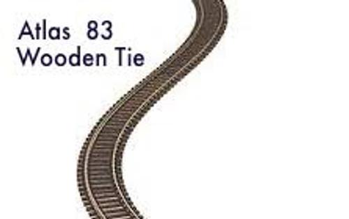 """Atlas #500 Ho Code 83 36"""" Wooden Tie  Flexi Track"""
