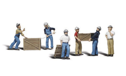 Scenic Accents #A2123 N Scale Dock Workers 6 pce