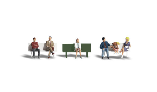 Scenic Accents #A2134  N Bus Stop People