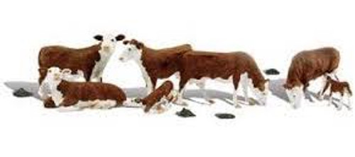 Scenic Accents #A2144 N Scale Hereford Cows 11pce