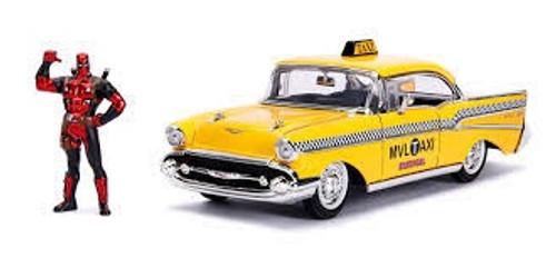 Jada #30290 1/24 1957 Chevy Bel Air w/ Deadpool