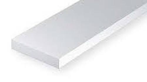 Evergreen #103 .010 x .100 ( 0.25 x 1.5mm) White Strips (10pc)
