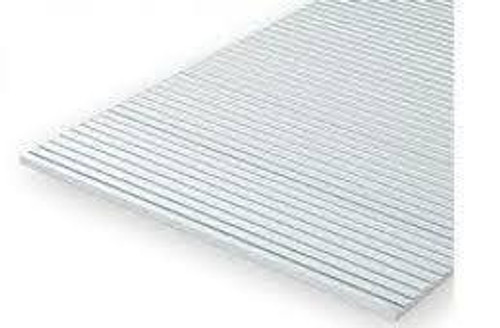 Evergreen #2030 White Grooved Sheet with 0.75mm Spaced grooves (