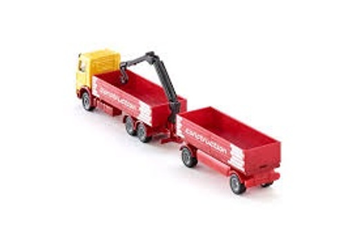 Siku # 1797 1/87 Mercedes Truck For Construction Material And Trailer