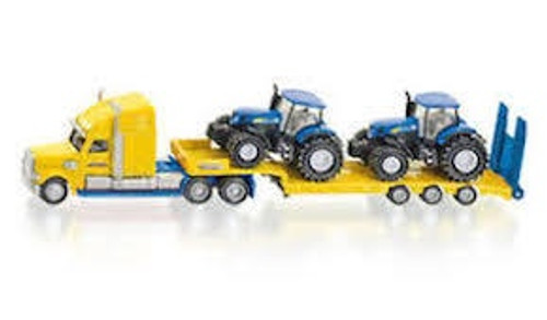 Siku # 1805 1/87 Low Loader & New Holland Tractor