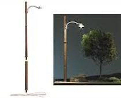 Just Plug #JP5630 3 HO Street Lights-Wooden Pole