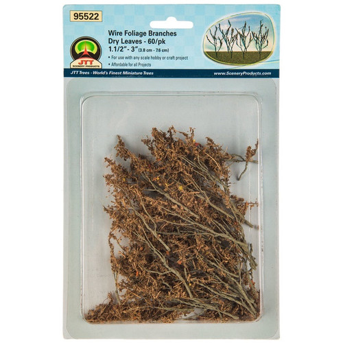 JTT # 95522 Wire Foliage Branches Dry Leaves  60/Pk