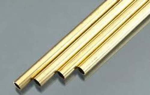 "K&S #1153  3/8 x 36"" (9.53mm x 920mm) Brass Tube"