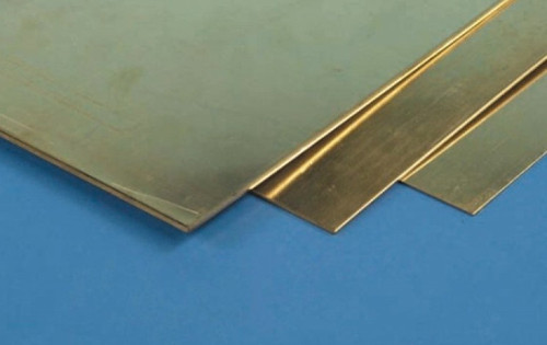 "K&S #250 Brass Sheet.005 x4 x10"" (.12mm) 1pc"